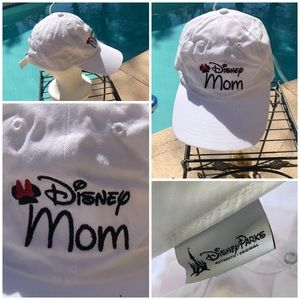 Disney Parks Mom Baseball Cap white unconstructed